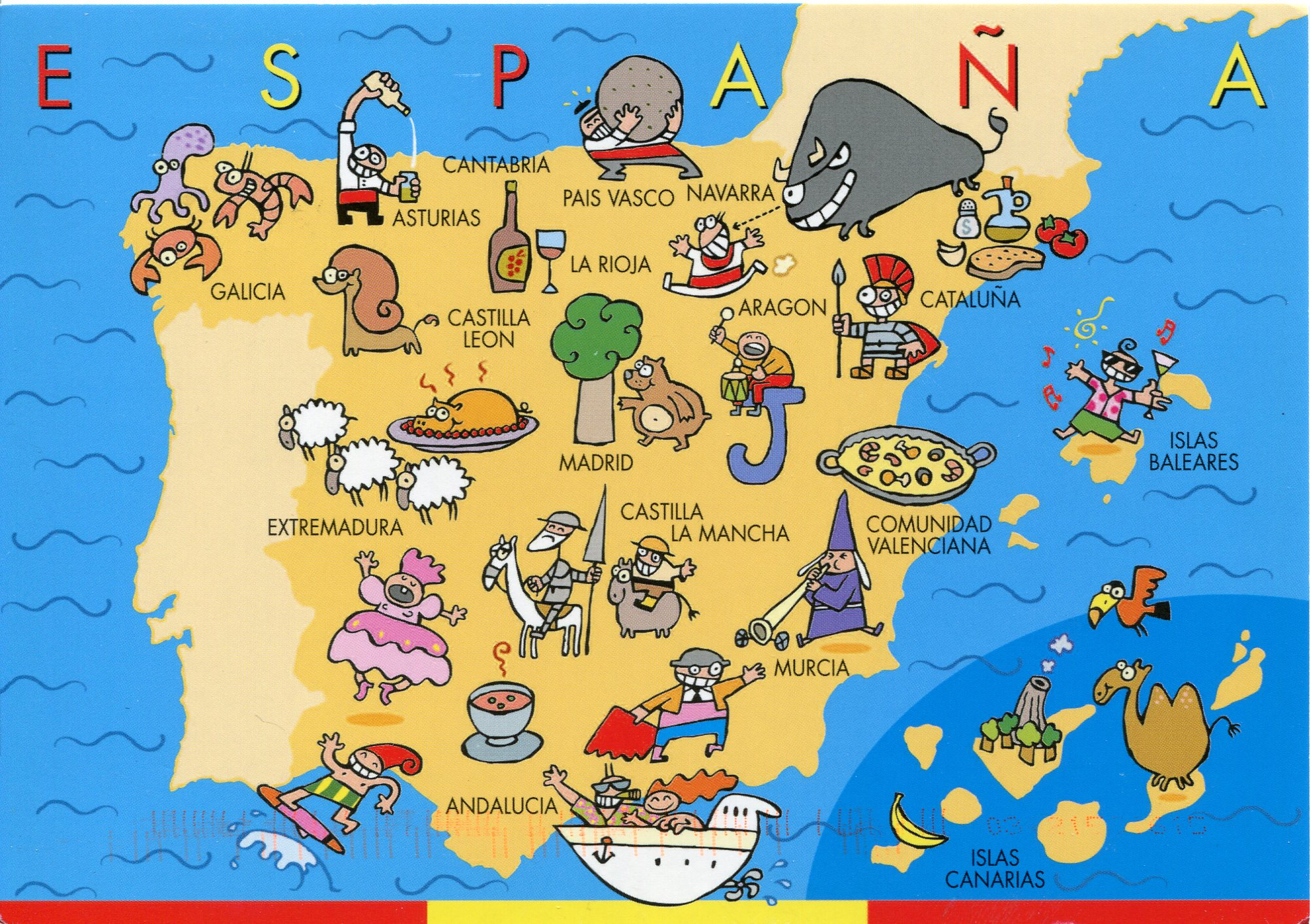 Kids Map Of Spain.Spain Small Chefs Big World